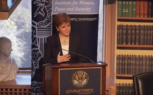 First Minister Nicola Sturgeon's speech at Georgetown University